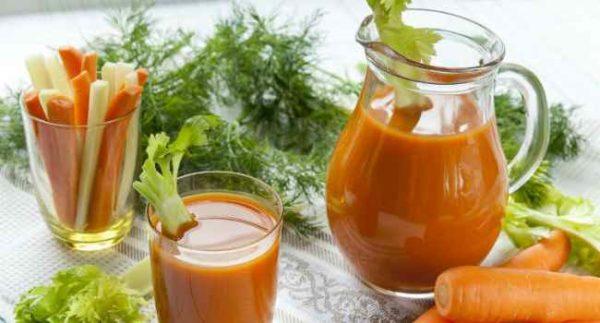 картофельный сок с морковным