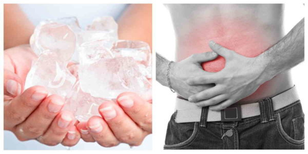 лед поможет снять боль с поджелудочной