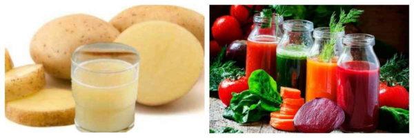 картофельный сок с другими овощами