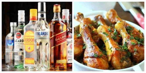 алкоголь и жирная еда