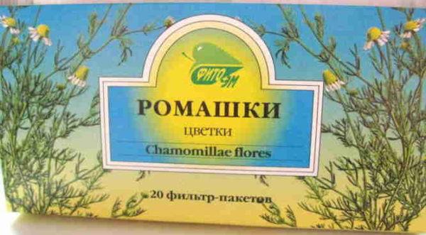 чай ромашки в пакетиках