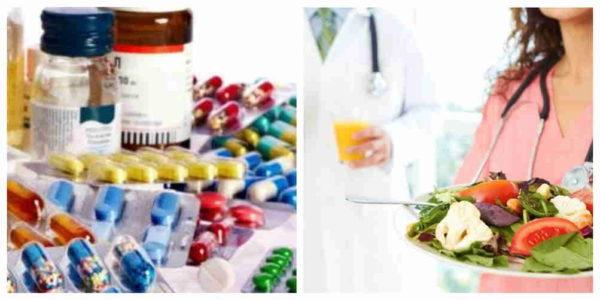 медикаменты и диета при лечении