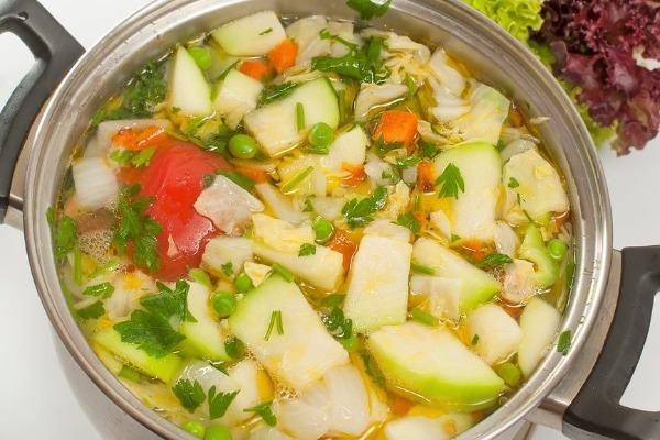 Суп из кабачка с овощами